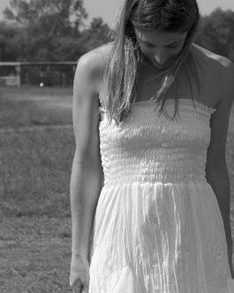 Vestido seda blanco