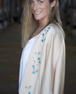 Kimono bordado Tánger seda