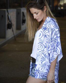 Kimono Marrakech seda estampado