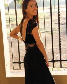 Falda encaje y body Velvet