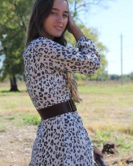 Vestido gasa animal print