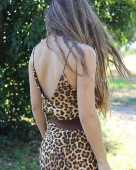 Falda y Top animal print